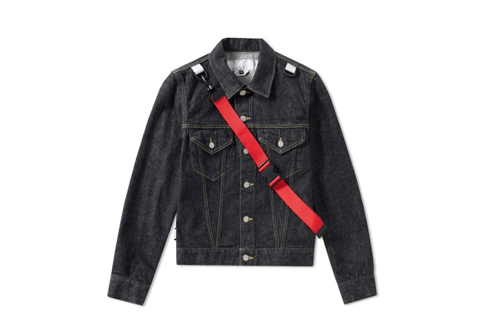 Check out GANRYU's Unique Adjustable Nylon Strap Selvedge Denim Jacket