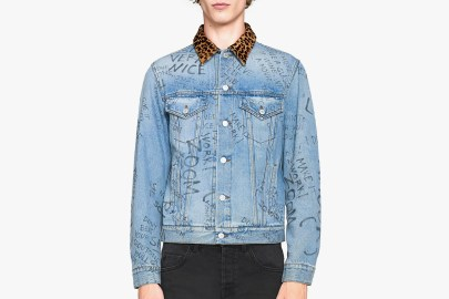 Gucci Updates the Classic Denim Jacket With Scribbles