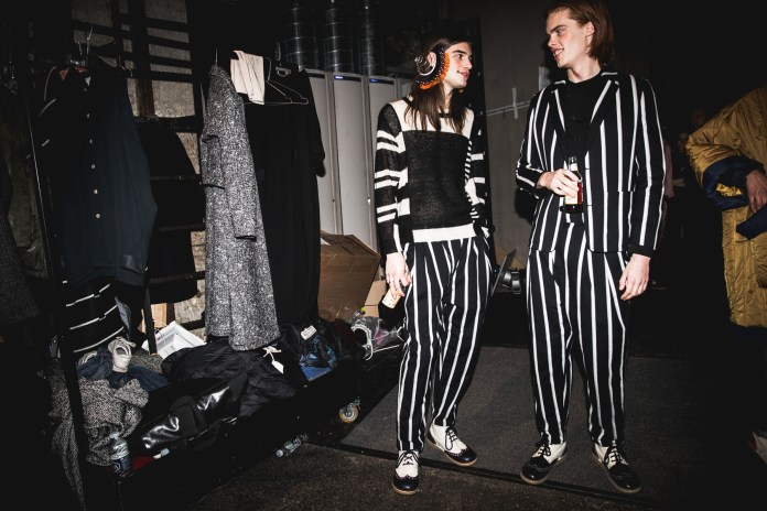 Backstage at the Henrik Vibskov's Regatta-Inspired 2017 Fall/Winter Collection