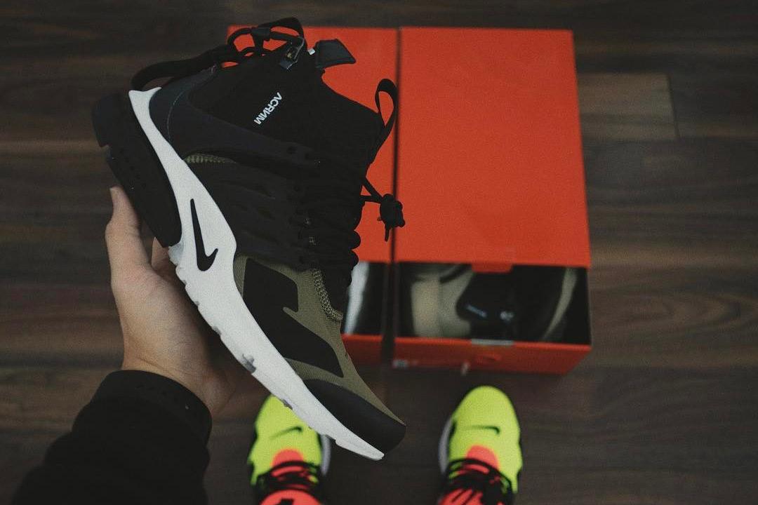 HYPEFEET ACRONYM x NikeLab Presto Mid Neon Green