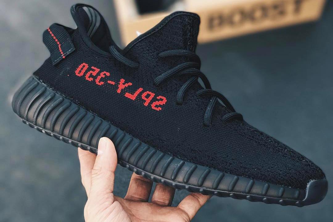 HYPEFEET adidas YEEZY BOOST 350 V2 Black Red - 3722435