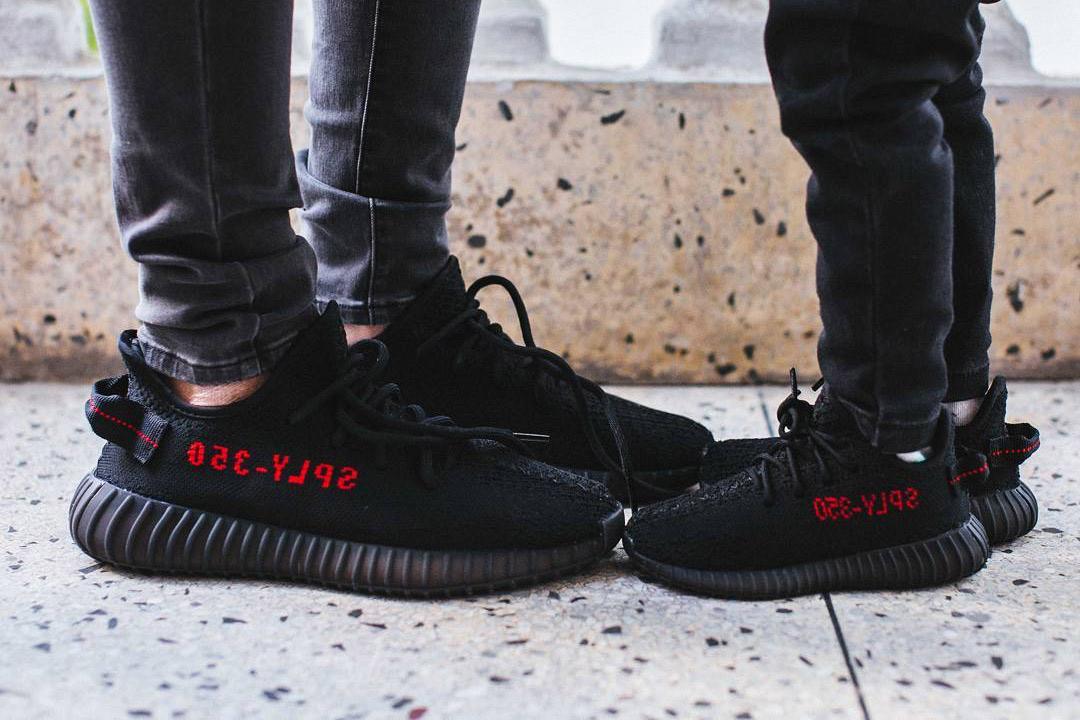 HYPEFEET adidas YEEZY BOOST 350 V2 Black Red - 3722442