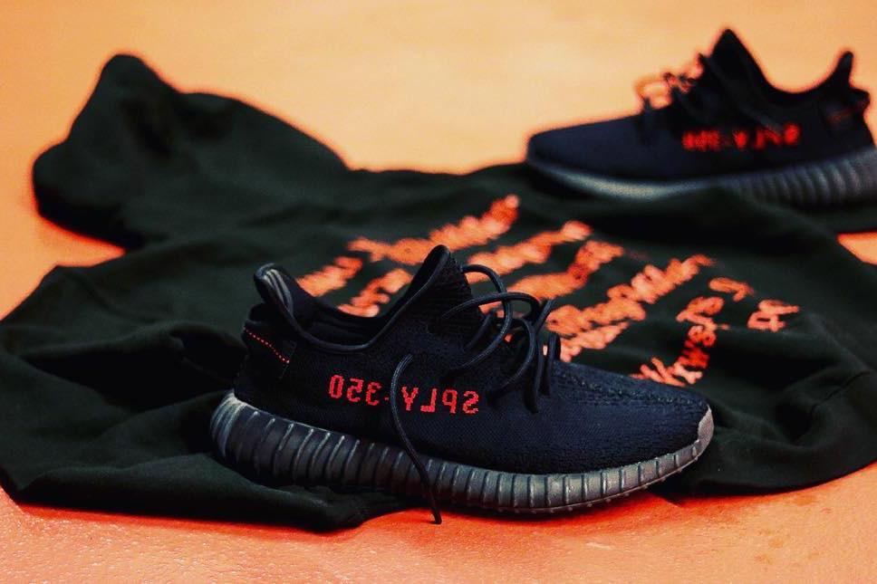 HYPEFEET adidas YEEZY BOOST 350 V2 Black Red - 3722440
