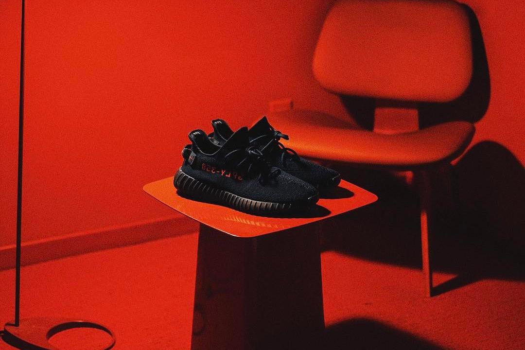HYPEFEET adidas YEEZY BOOST 350 V2 Black Red - 3722441