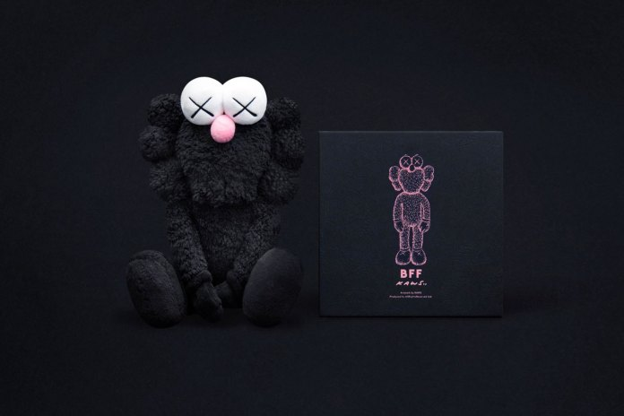 KAWS Is Set to Re-Release His Black BFF Plush Tomorrow