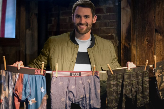 "Kevin Love Plays ""Boxers or Briefs"" at His SAXX Underwear Capsule Launch"