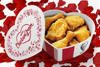 KFC Wants to Spice up Your Valentine's Day With a Limited Edition Fried Chicken Bucket