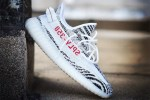 "Picture of Kim Kardashian Is Giving Away YEEZY BOOST 350 V2s in ""Zebra"""