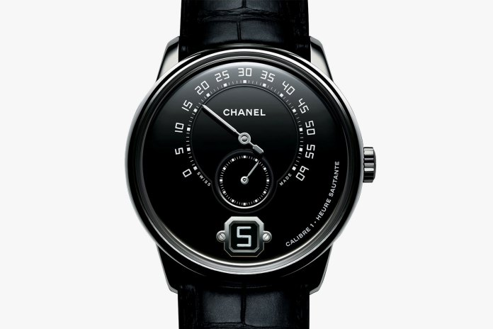 The Monsieur de Chanel Returns in Limited Edition Platinum With Black Enamel