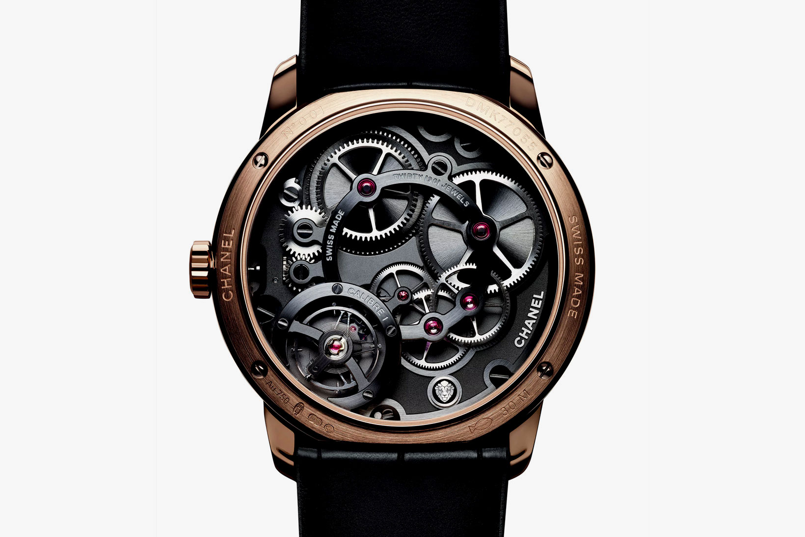 Monsieur de Chanel Limited Edition Platinum and Black Enamel