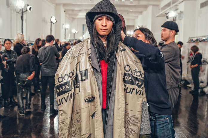 Here's a Backstage Look at N.HOOLYWOOD's 2017 Fall/Winter Collection
