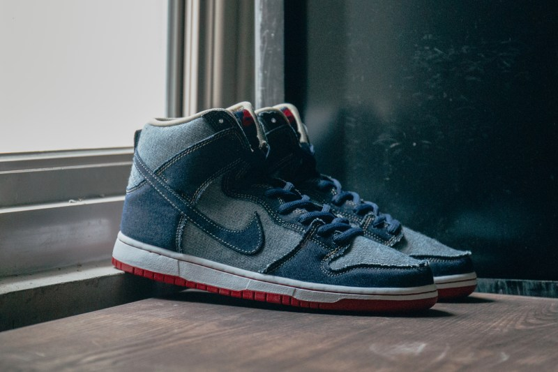 "new style 2db90 68bef A Closer Look at the Nike SB Dunk Hi OG ""Reese Forbes Denim"""