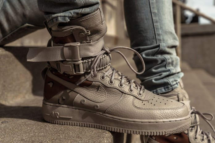 "Closer & On-Feet Looks of the Nike SF-AF1 ""Desert Camo"" And ""Dust"" From Different Retailers"