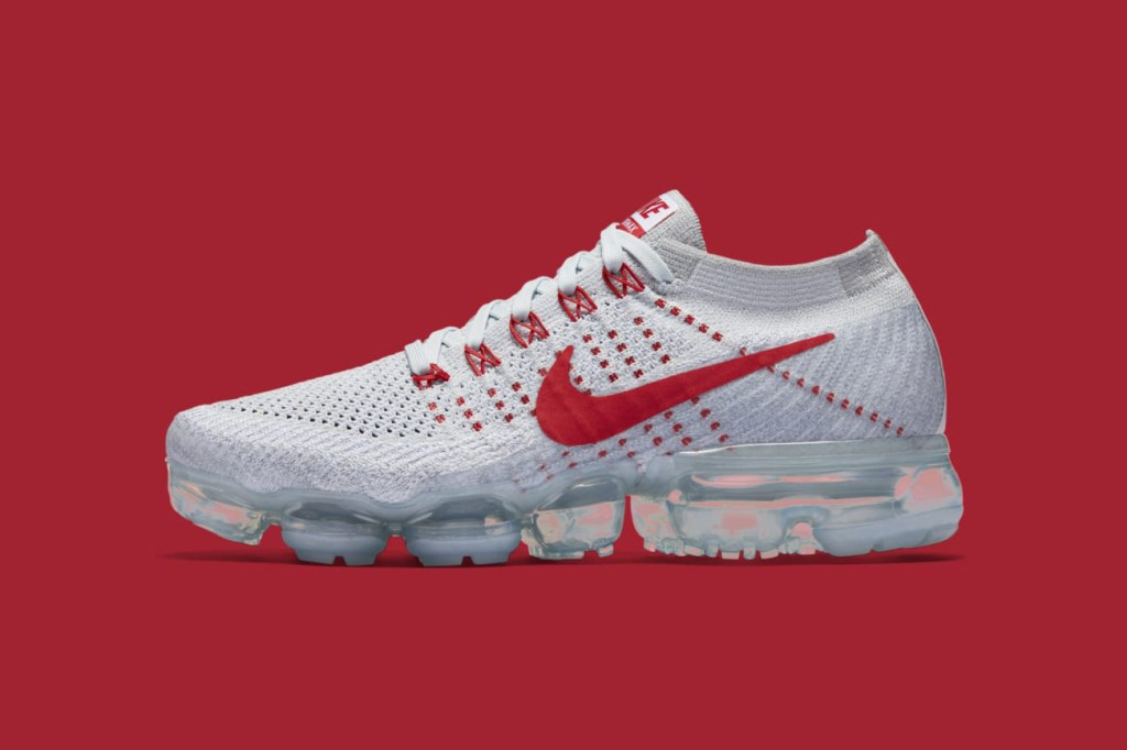 Nike Vapormax Pure Platinum University Red Wolf Grey
