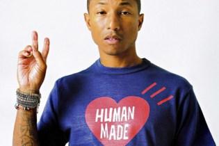 Pharrell Williams Models HUMAN MADE for 'SENSE' Magazine 2017 Spring/Summer Editorial