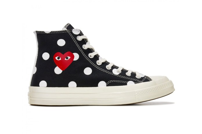 COMME des GARÇONS PLAY Updates the Converse Chuck Taylor All Star '70 With Polka Dots