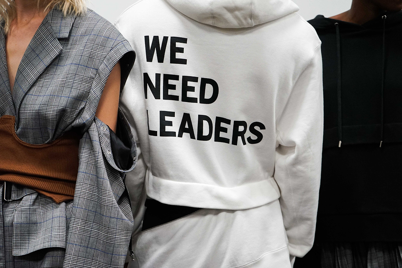 "PSNY x Jordan ""We Need Leaders"" Hoodie Available at KITH"