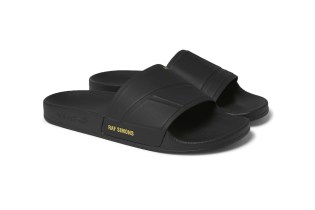 The Raf Simons x adidas Adilette Gets an All-Black Update