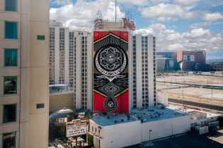 Shepard Fairey's Politically-Charged 'Cultivate Harmony' Mural Took Over Las Vegas Alongside D*Face's Piece