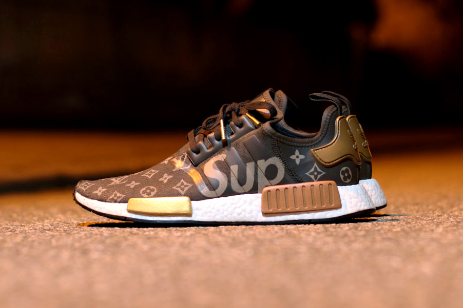 What a Supreme x Louis Vuitton x adidas NMD R1 Collaboration Might Look Like Footwear Three Stripes Germany French Luxury House Skateboarding - 3740983