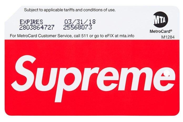 UPDATE: NYC MTA Has Confirmed the Supreme MetroCards Being Sold at Stations, Locations Revealed