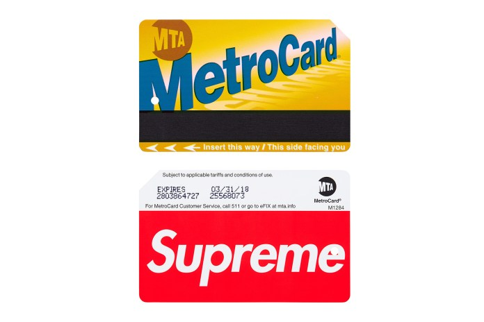 The Supreme NYC MetroCard Is Popping up on eBay for 30x Its Retail Cost