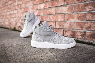 """A Closer Look at The """"Wolf Grey"""" Nike Air Force 1 Ultra Flyknit Mid"""