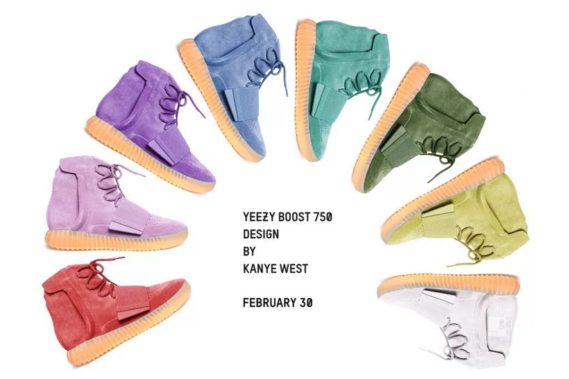 YEEZY BOOST 750 Rainbow Pack Release Date