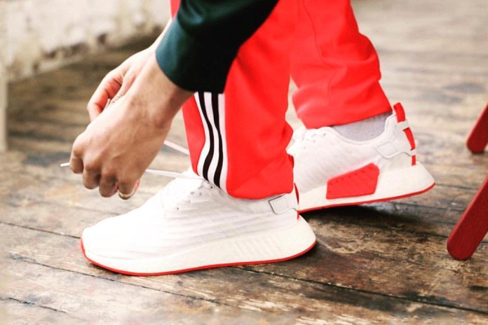 The adidas NMD_R2 in an Understated White and Red Colorway Arrives Next Week