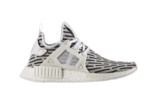 The adidas NMD XR1 Surfaces in White With the NMD R2 Pattern