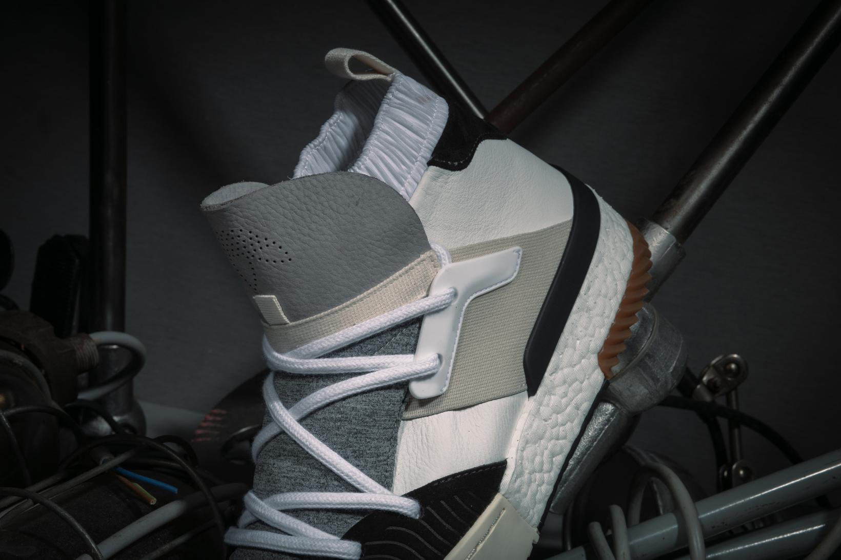 adidas Originals by Alexander Wang Drop 3 BBall White Grey Profile