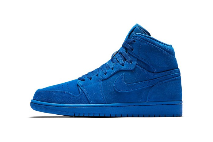 The Suede-Covered Air Jordan 1s Surface in Adult Sizing