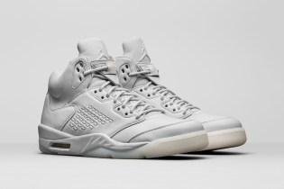 """The Air Jordan 5 Premium Receives A """"Pure Platinum"""" Upgrade"""