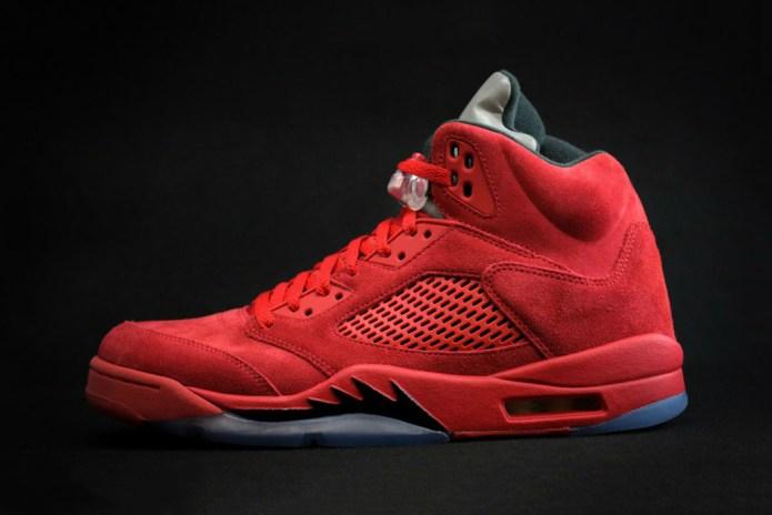 The Air Jordan 5 Returns in Sleek Red Suede