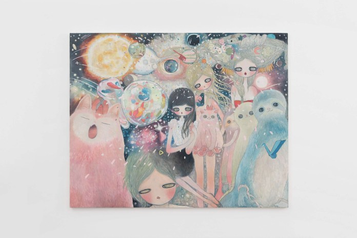 Aya Takano Displays Ethereal and Dreamy Paintings at Her 'The Jelly Civilization Chronicle' Exhibition