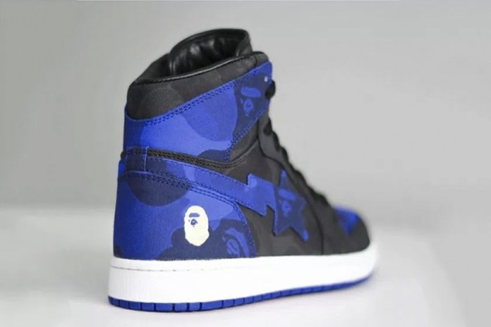 "A BAPE-Inspired Air Jordan 1 ""Royal"" Surfaced out of Nowhere"