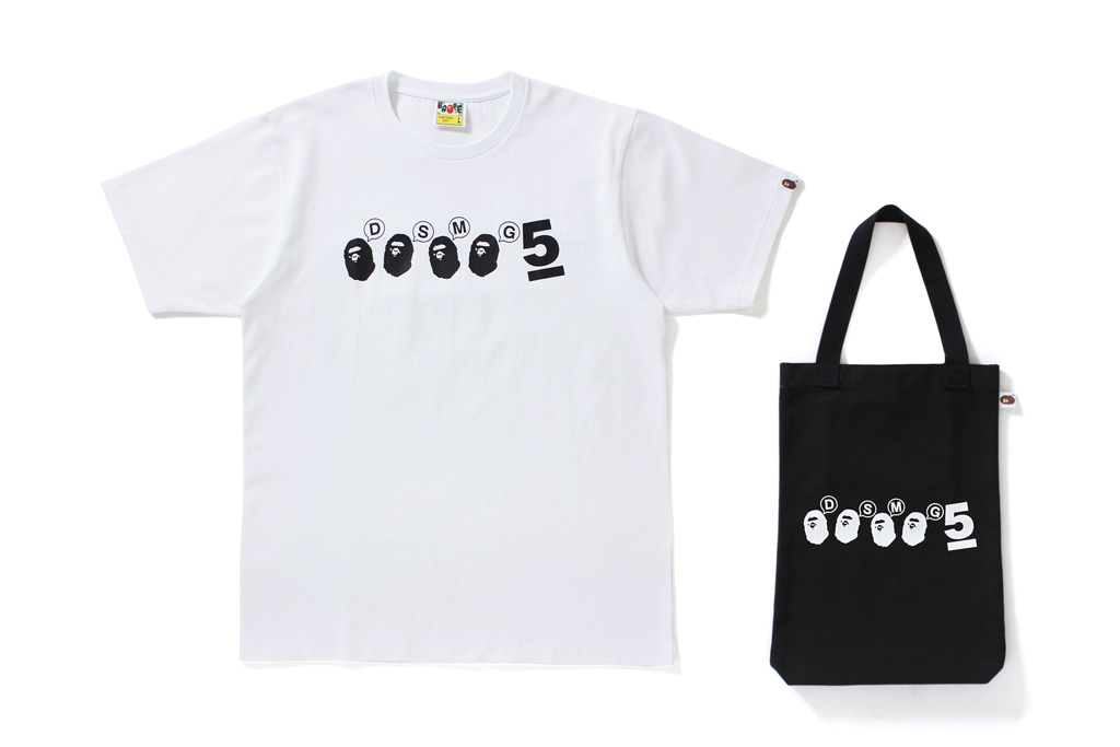 BAPE Dover Street Market Ginza 5th Anniversary Collection BE@RBRICKS Tote Bags T-shirts tees BEARBRICK Medicom Toy