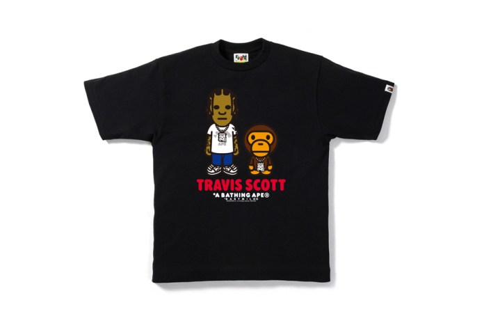 BAPE Launches Special Edition T-Shirts Featuring Travis Scott and Big Sean