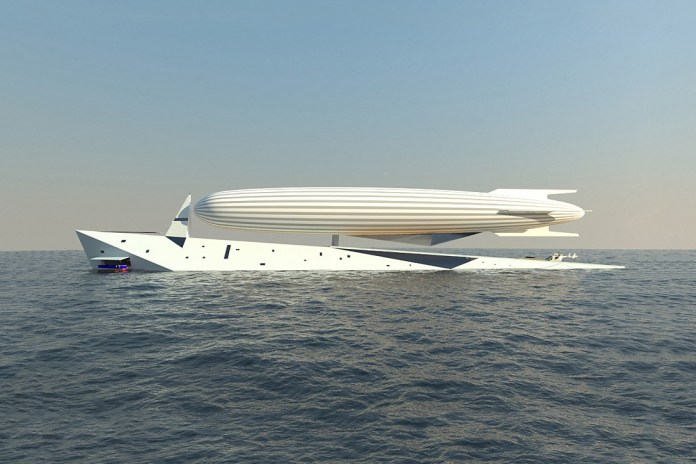 """The """"Dare to Dream"""" Superyacht Concept Boasts a 330-Foot Airship"""