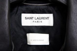Hedi Slimane's Personal Saint Laurent Leather Jacket Surfaces on Grailed