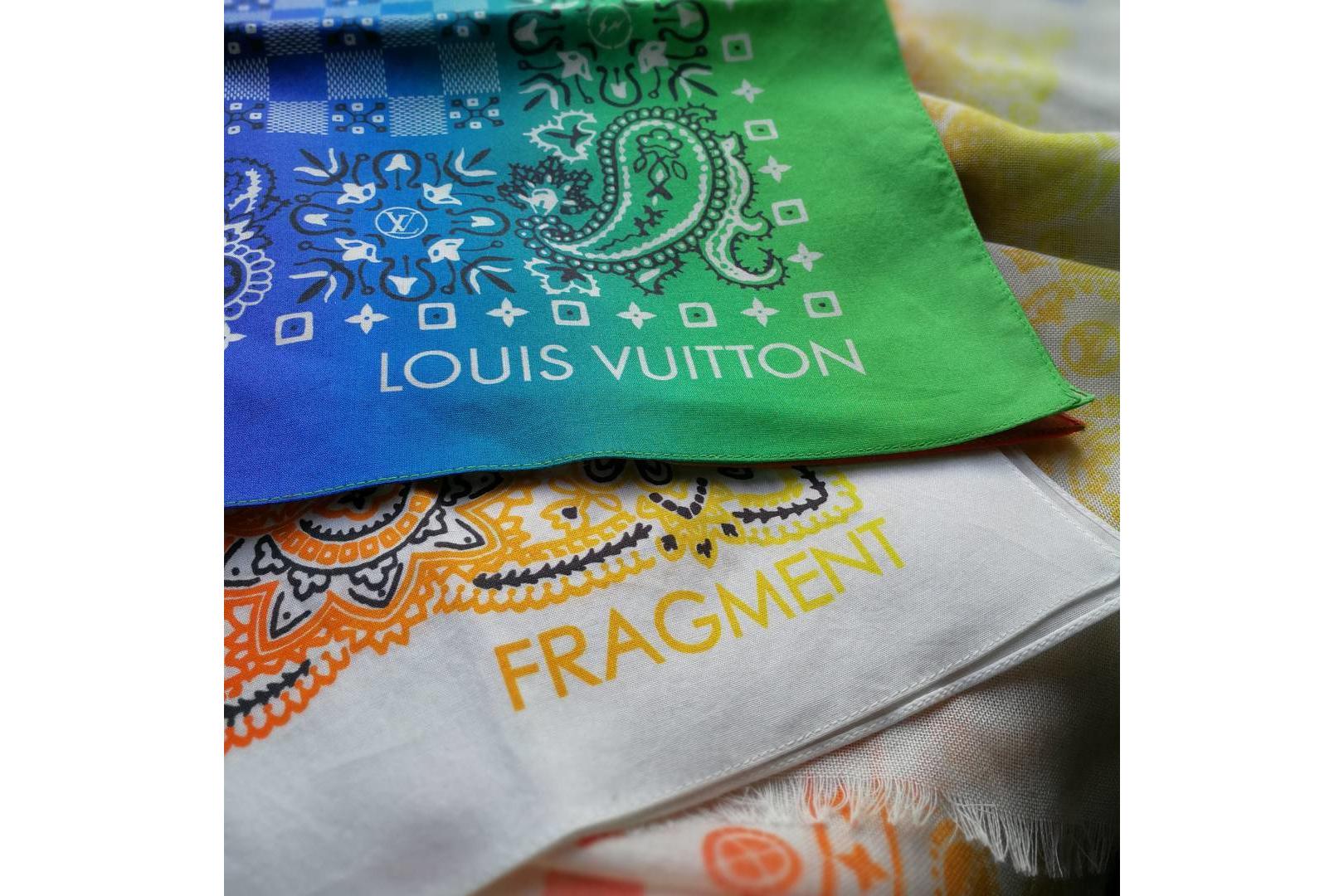 Hiroshi Fujiwara fragment design Louis Vuitton paisley bandana custom bear