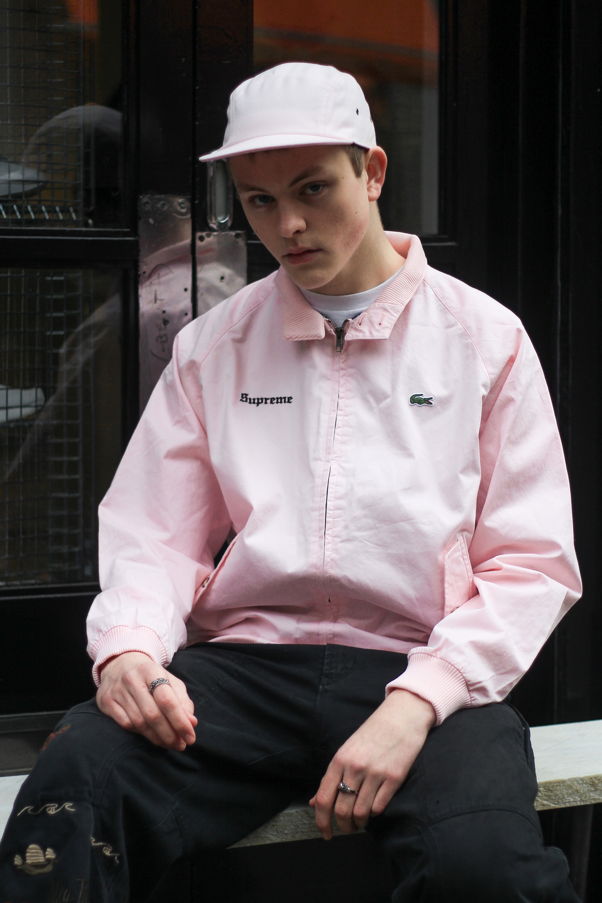 Lacoste x Supreme Pink Cap Pink Jacket