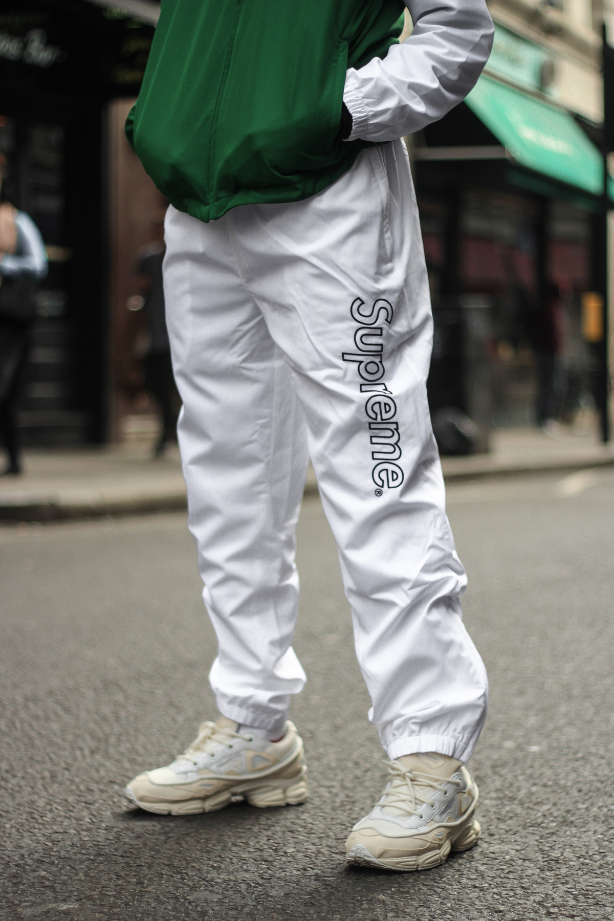 Lacoste x Supreme White Track Pants Green Track Jacket