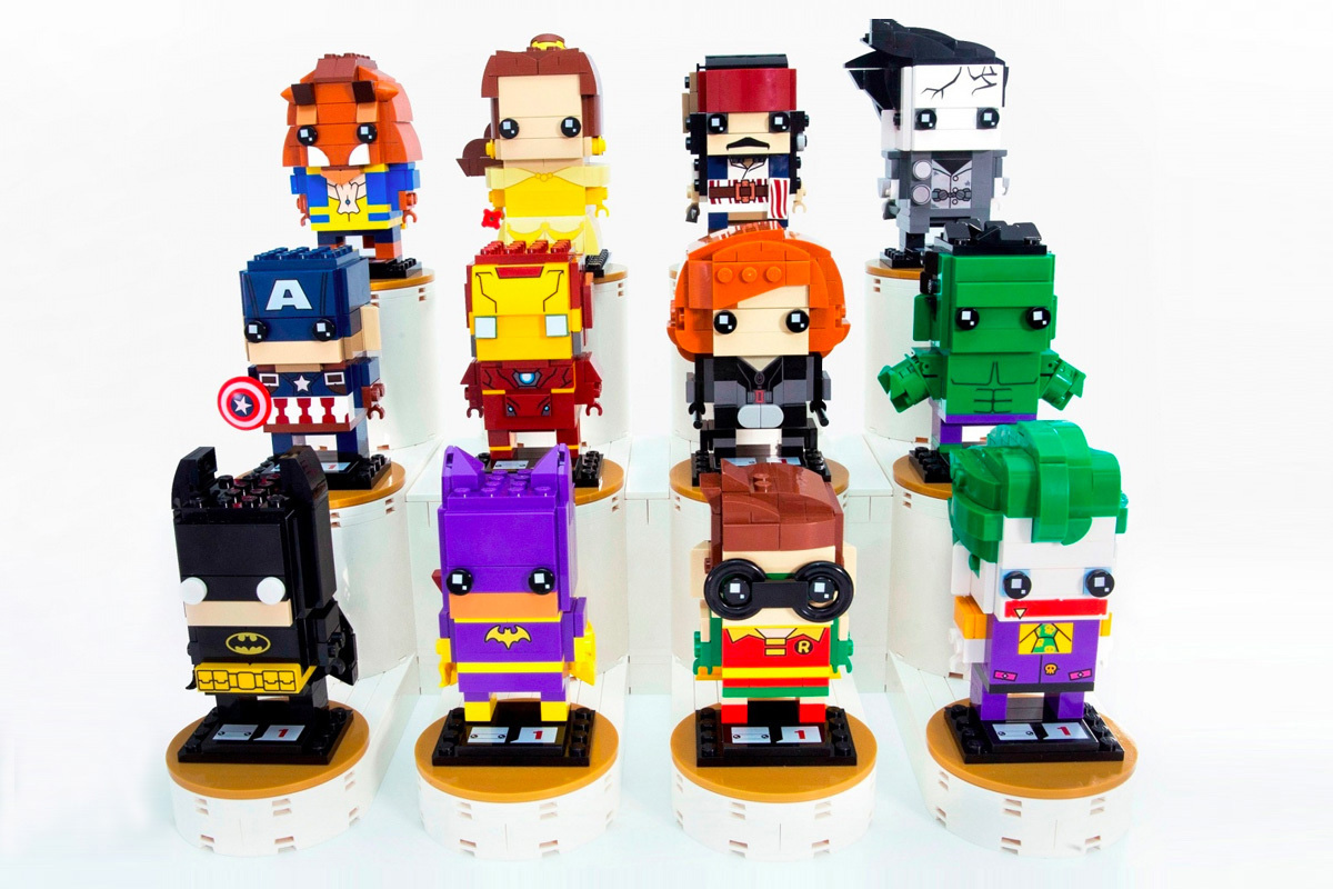 LEGO Brickheadz Collection Launch Batman Beauty And The Beast Pirates Of The Caribbean - 3754272
