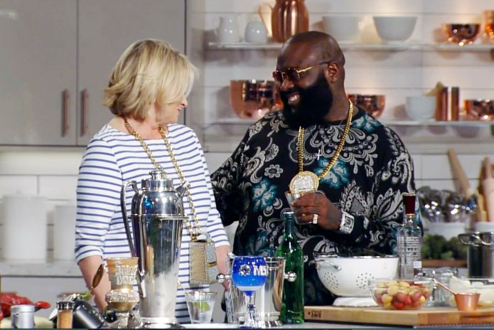 Martha Stewart Helps Rick Ross out for His New Album