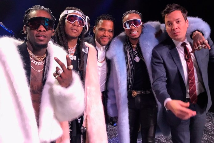 "Watch Migos Perform ""T-Shirt"" With The Roots on 'Jimmy Fallon'"