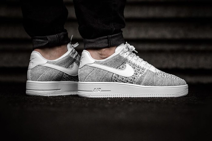"""Nike Air Force 1 Ultra Flyknit Low Takes on A """"Cool Grey"""" Makeover for Spring"""