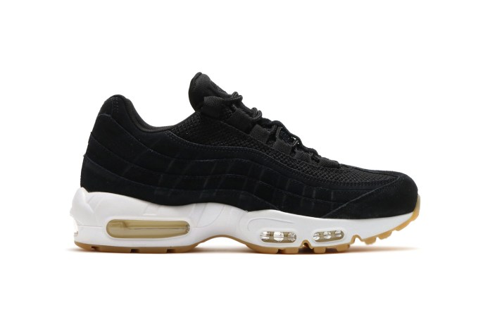 Nike Drops a Clean Black & White Air Max 95 With a Gum Sole