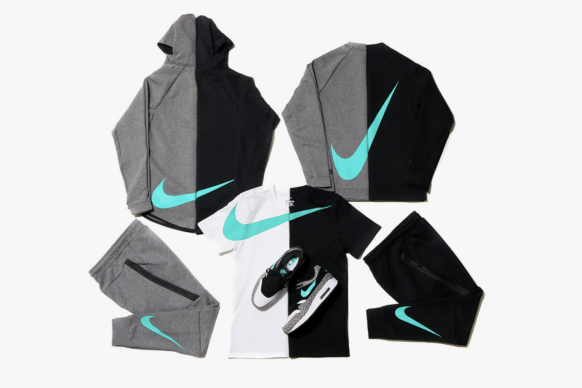 Nike atmos Air Max 1 Elephant Big Swoosh Tech Fleece Collection