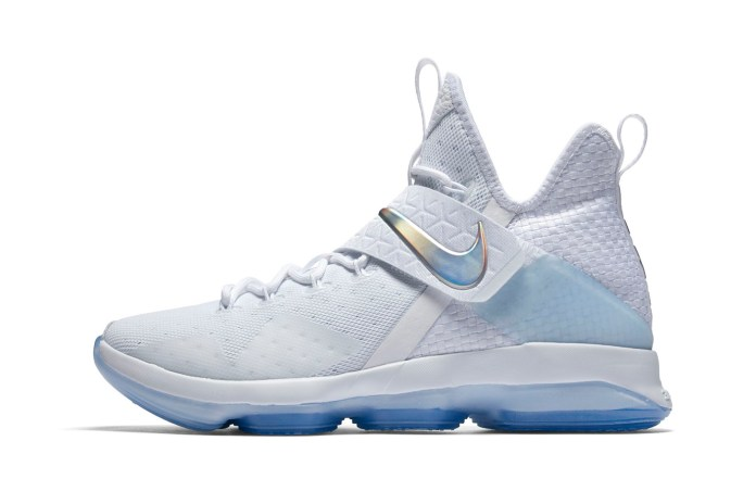 Nike LeBron 14 Gets White, Iridescent and Translucent Treatment